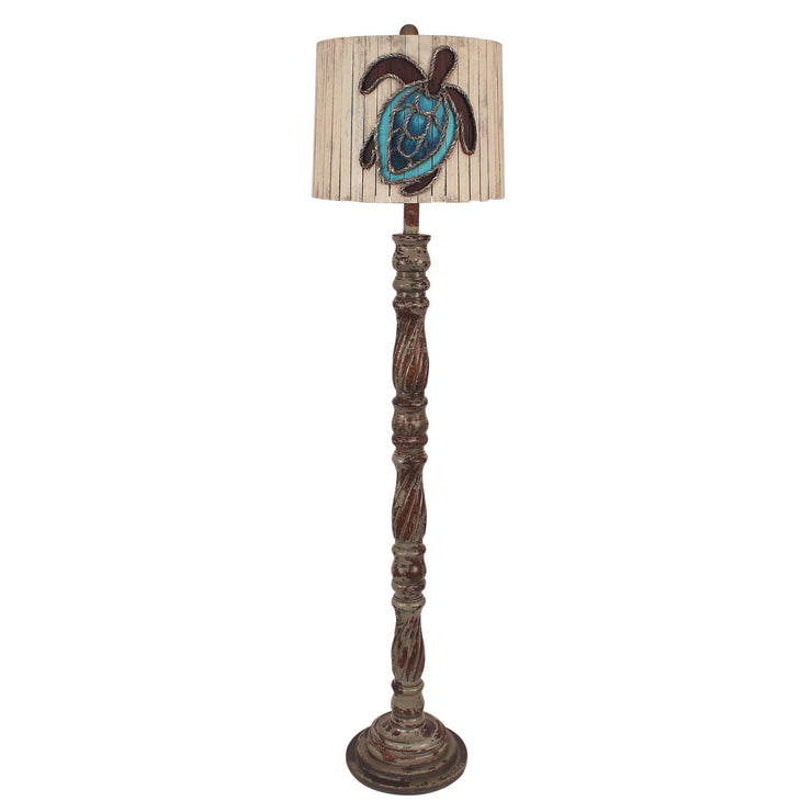 Swirl Floor Lamp with Turtle Shade