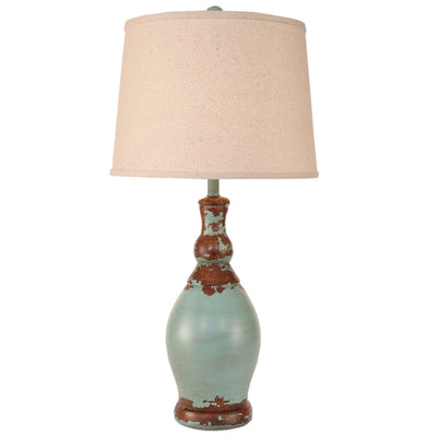 Turquoise Slender Neck Casual Table Lamp