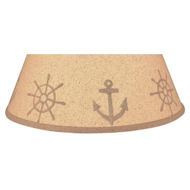 Anchor & Ship Wheel Lamp Shade Close-up