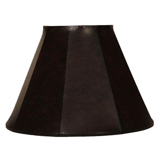 Aspen Black Faux Leather Lamp Shade