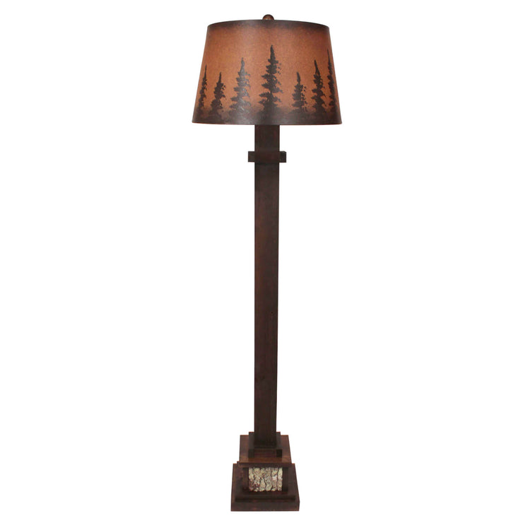 Pine Tree Grove Aspen Floor Lamp
