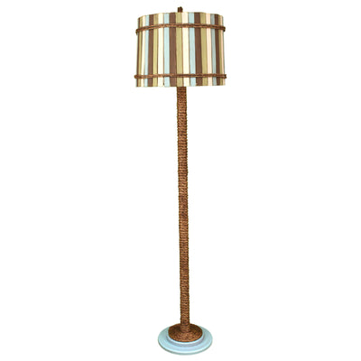 Atlantic Grey Manila Rope Floor Lamp