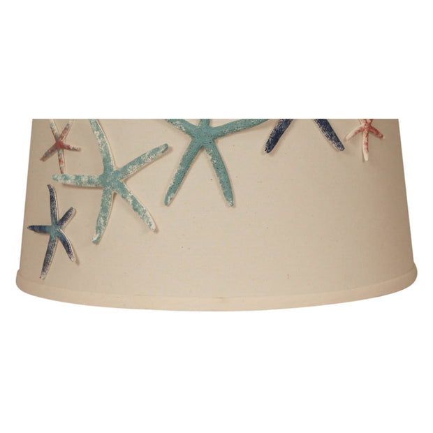Authentic Painted Starfish Lamp Shade Close-up