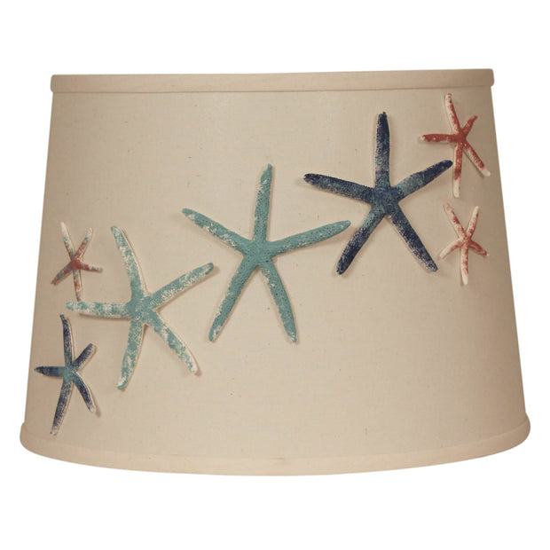 Authentic Painted Starfish Lamp Shade