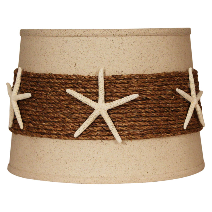 Rope Band with Authentic Starfish Drum Lamp Shade