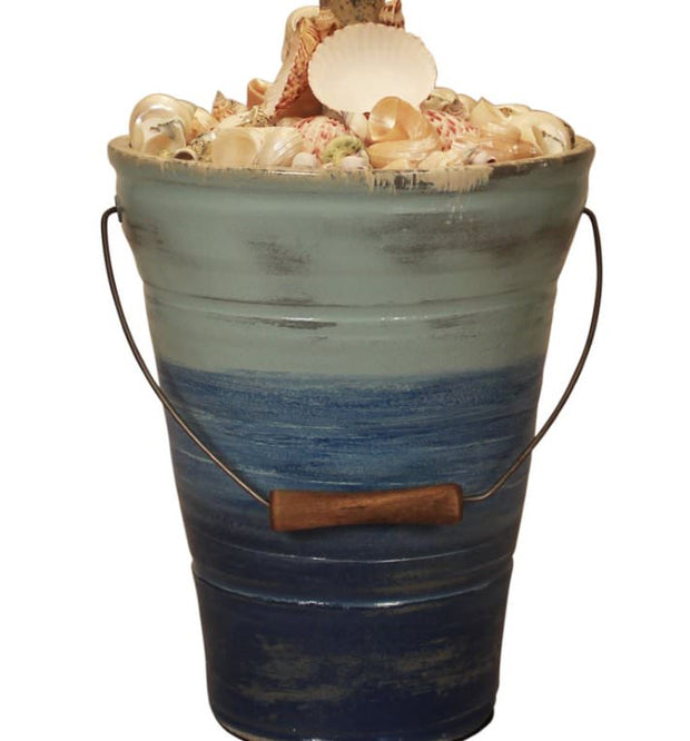 Bahama Bucket of Shells Table Lamp Base Close-up