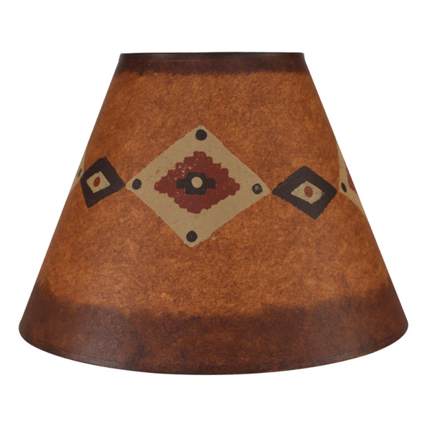 Band of Diamonds Rustic Brown Stained Lamp Shade
