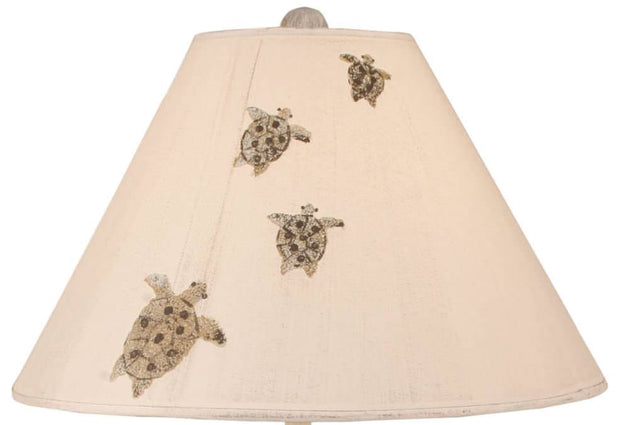 Band of Turtles Table Lamp Shade Close-up