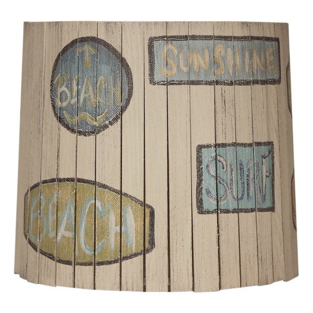 Beach Signs Wood Panel Lamp Shade