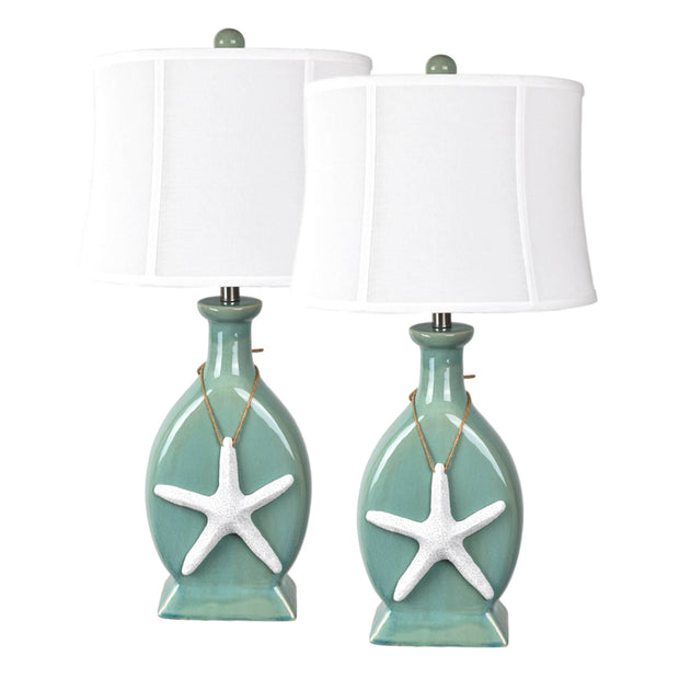 Beach Town Table Lamp Set of 2