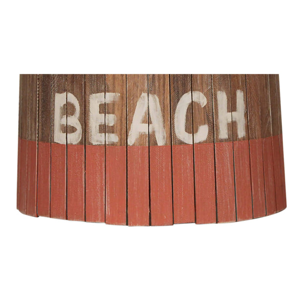 Beach Coral Weathered Wood Panel Lamp Shade Close-up