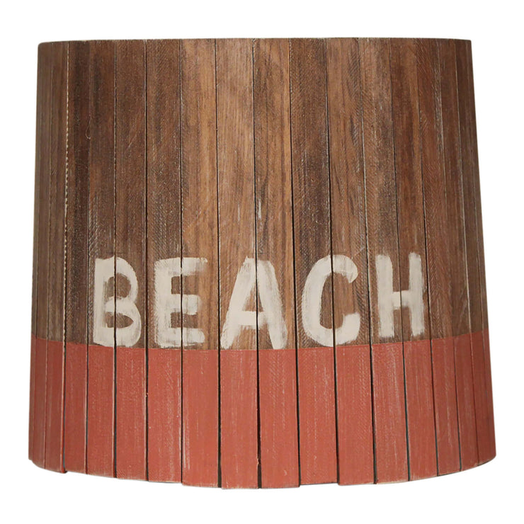 Beach Coral Weathered Wood Panel Lamp Shade