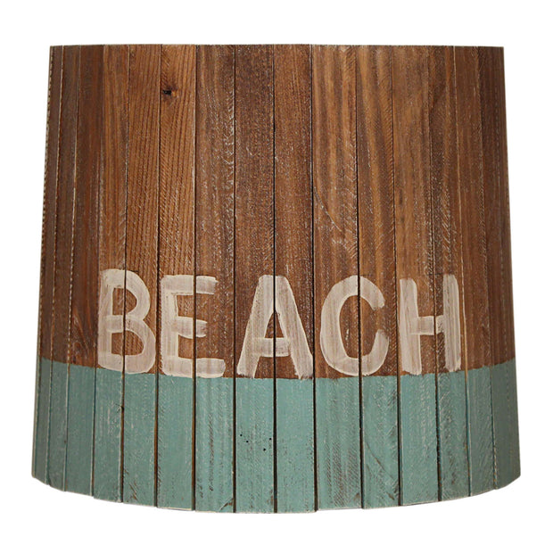 Beach Turquoise Weathered Wood Panel Lamp Shade