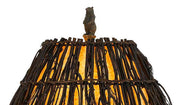 Bear Cubs Table Lamp Shade Finial Close-up