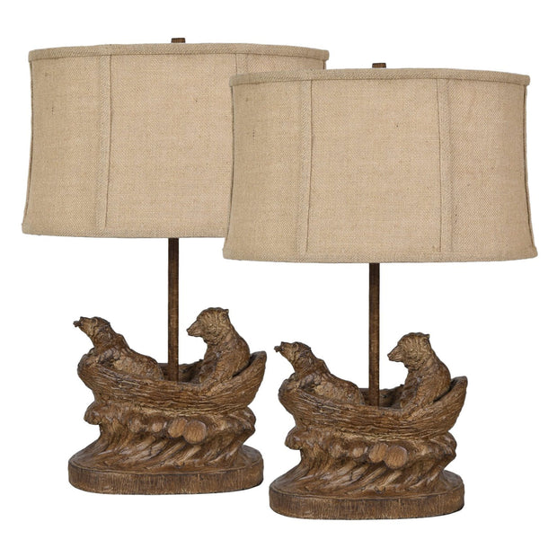 Bear Expedition Table Lamp Set of 2