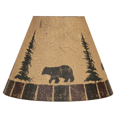 Bear and Feather Trees Block Lamp Shade