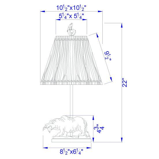 Bear Accent Lamp Dimensions