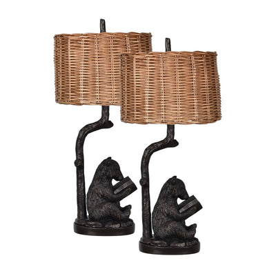 Bear Knowledge Table Lamp Set of 2