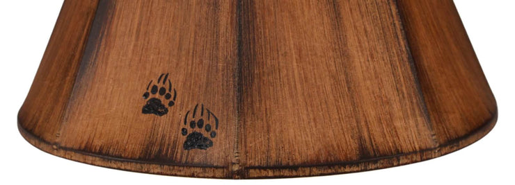 Bear Tracks Streak Faux Leather Lamp Shade Close-up
