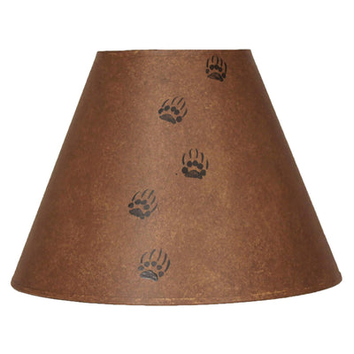 Bear Tracks Rustic Brown Lamp Shade