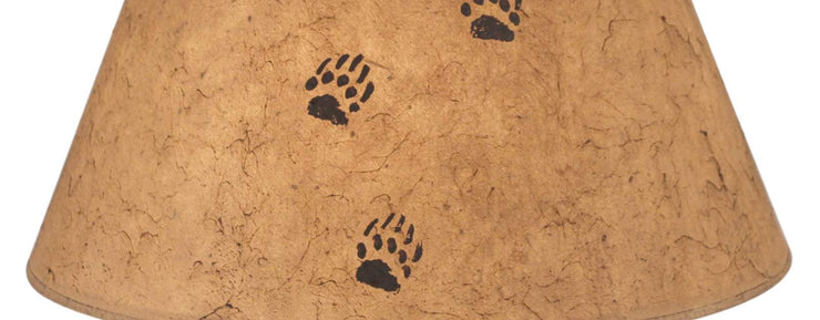 Bear Tracks Light Umber Lamp Shade Close-up