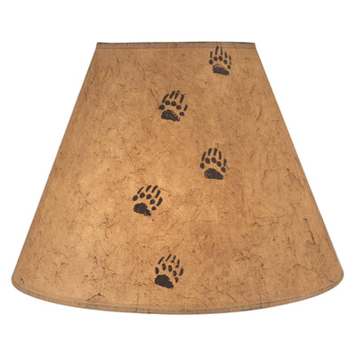 Bear Tracks Light Umber Lamp Shade