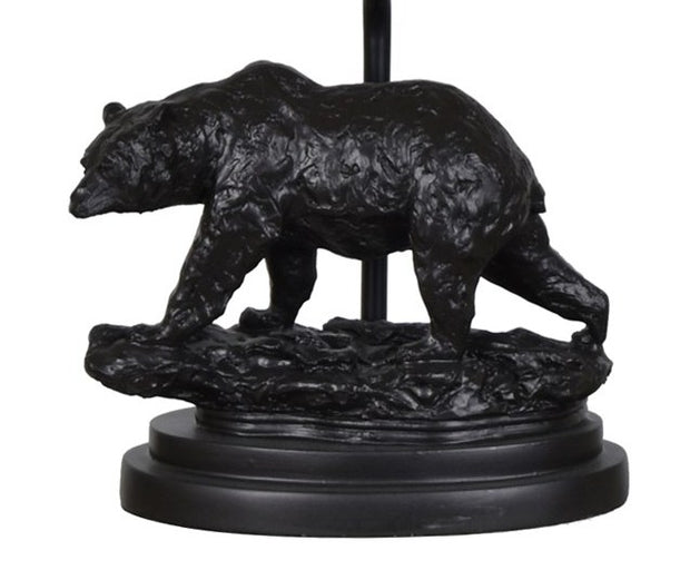 Bear Trail Table Lamp Base Close-up