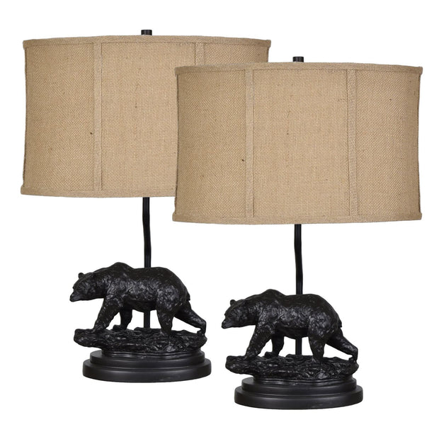 Bear Trail Table Lamp Set of 2