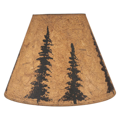 Black Feather Tree Lamp Shade