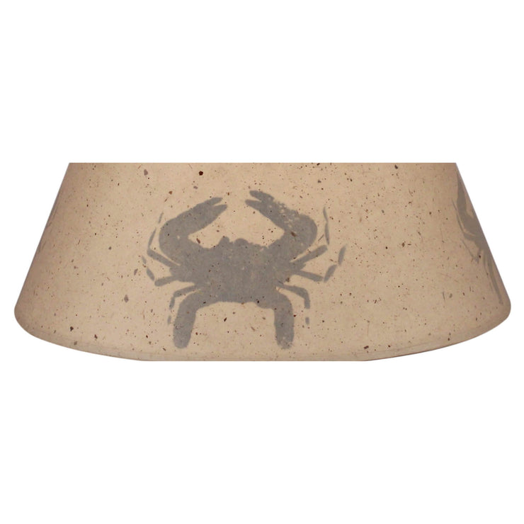 Silhouette Blue Crab Lamp Shade Close-up