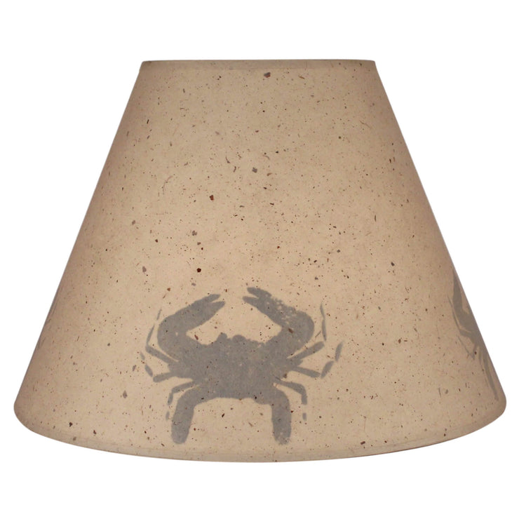 Silhouette Blue Crab Lamp Shade