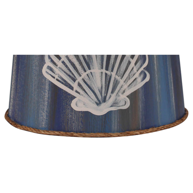 Blue Streak Shell Lamp Shade Close-up