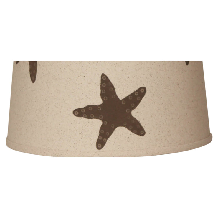 Light Chocolate Brown Starfish Lamp Shade Close-up