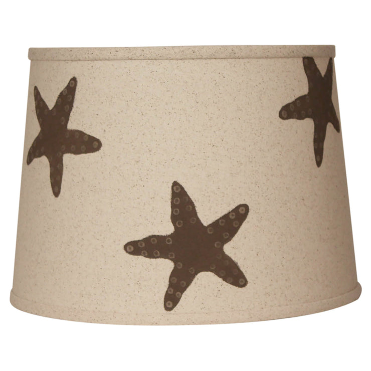Light Chocolate Brown Starfish Lamp Shade