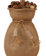 Burlap Sack of Pine Cones Table Lamp Base close-up