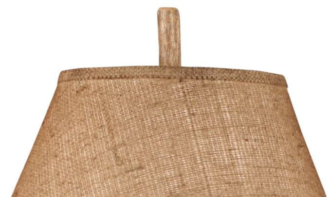 Burlap Sack of Pine Cones Table Lamp Shade Close-up