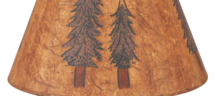 Double Pine Tree Lamp Shade Close-up