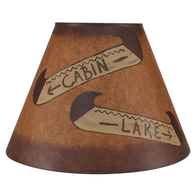 Double Canoe Signs Stained Band Lamp Shade