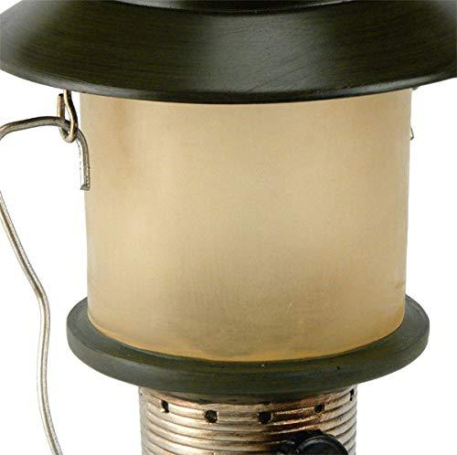 Camp Lantern Table Lamp with Night Light Close-up