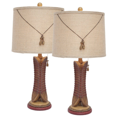 Canoe Trio Table Lamp Set of 2