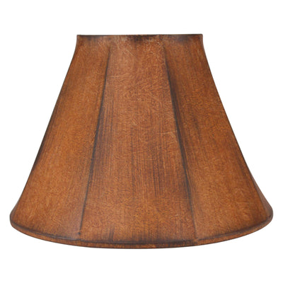 Charred Faux Leather Lamp Shade
