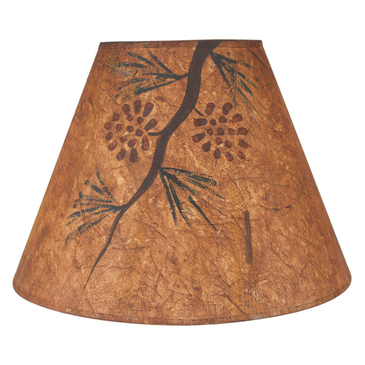 Pine Cone Branch Charred Lamp Shade