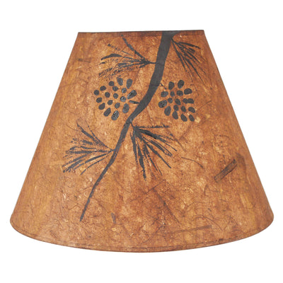 Pine Cone Branch Charred Streak Lamp Shade