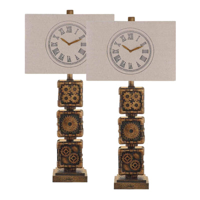 Clockwork Table Lamp Set of 2