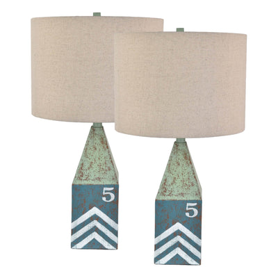 Coastal Float Table Lamp Set of 2