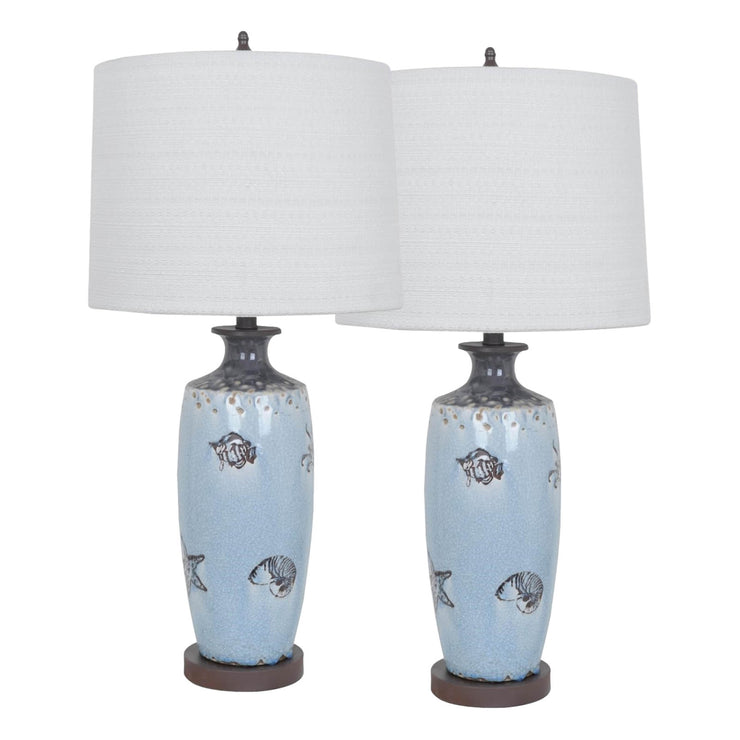 Coastal Marine Table Lamp Set of 2