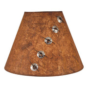 Concho and Leather Lamp Shade