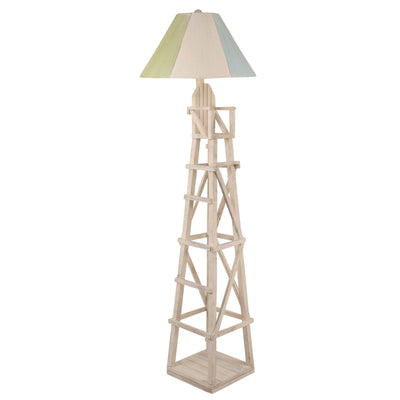 Cottage Lifeguard Chair Floor Lamp