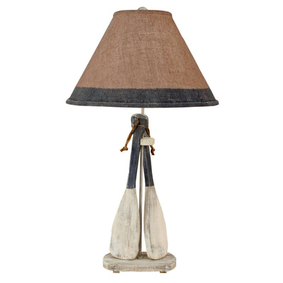 Cottage Navy Paddle Table Lamp