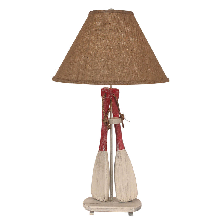 Cottage Red Paddle Table Lamp